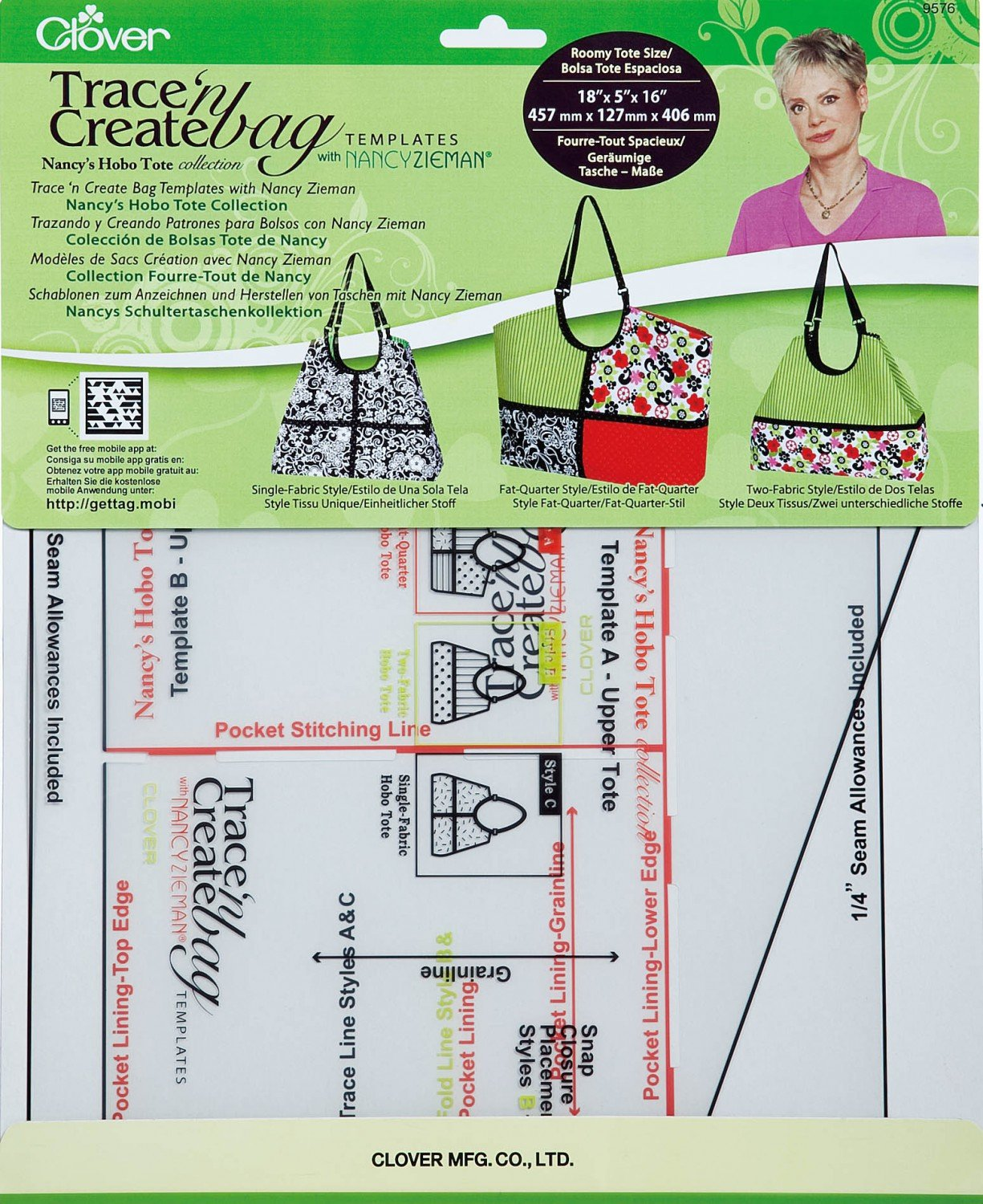 Trace N Create Bag Templates Hobo Tote Collection