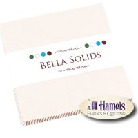 Bella Solids White Charm Pack by Moda