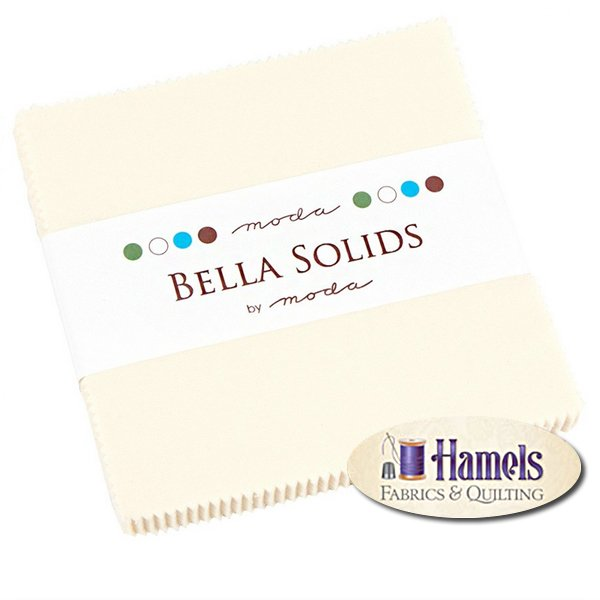 Bella Solids Snow Charm Pack by Moda