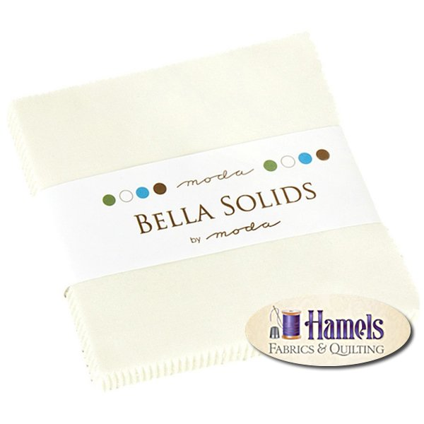 Bella Solids Porcelain Charm Pack by Moda