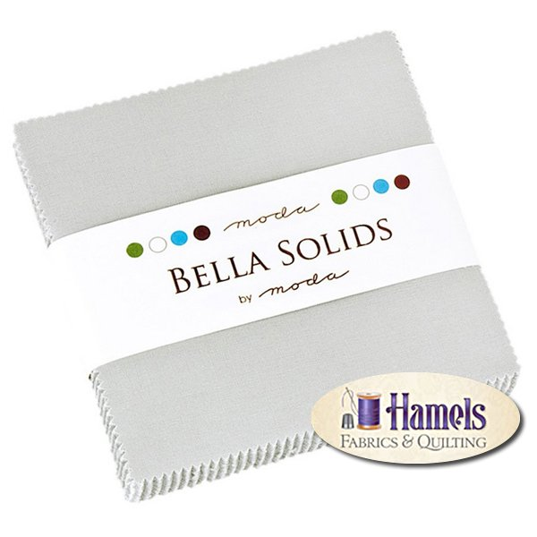 Bella Solids Silver Charm Pack by Moda