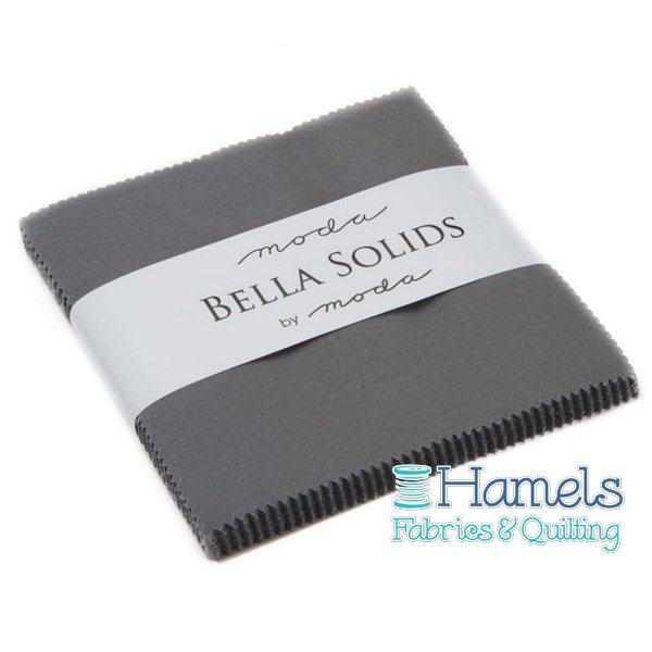 Bella Solids Graphite Charm Pack by Moda