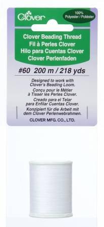 Clover Beading Thread -- White #60