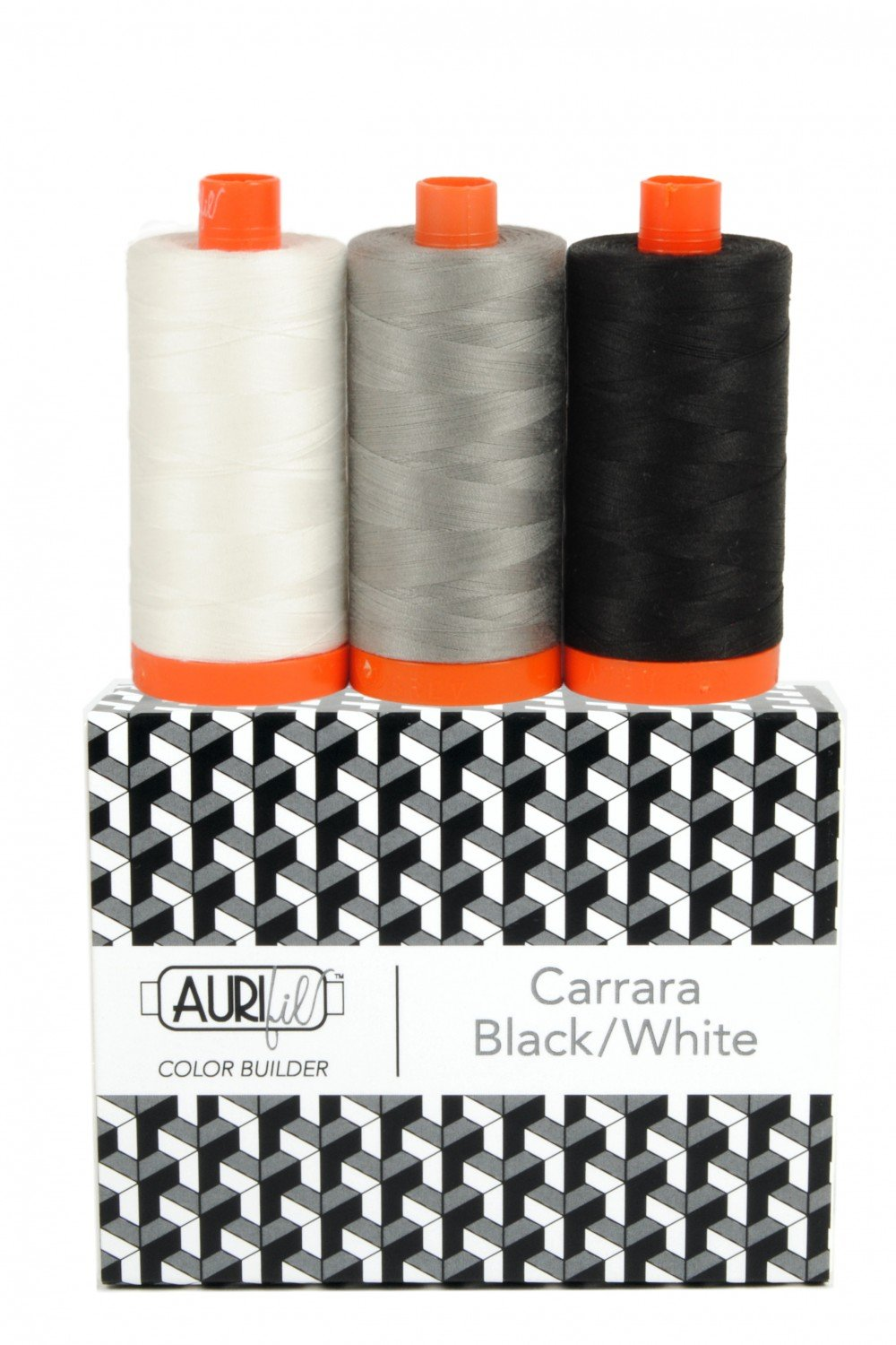 Aurifil Color Builder 3pc Set - Carrara Black/White
