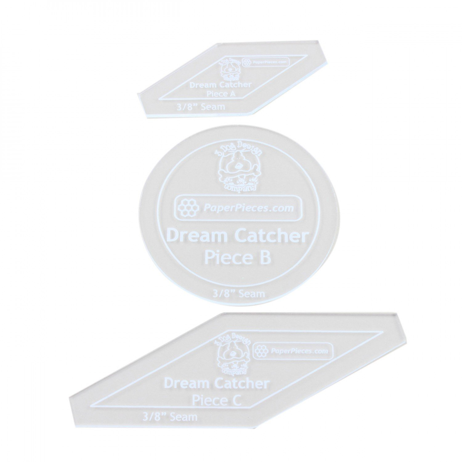 acrylic fabric cutting template for dream catcher complete set