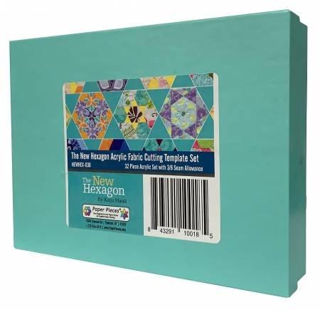 Acrylic Fabric Cutting Templates Hexagons 32pc Set