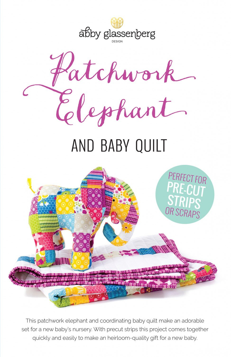Patchwork Elephant and Baby Quilt