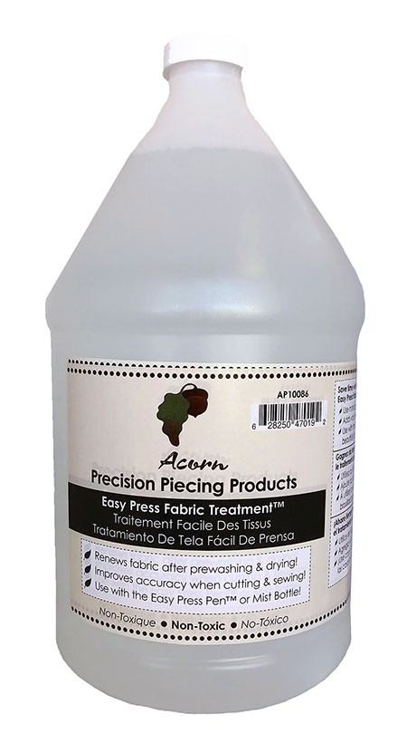 Acorn Precision Piecing Products Easy Press Fabric Treatment 1 Gallon
