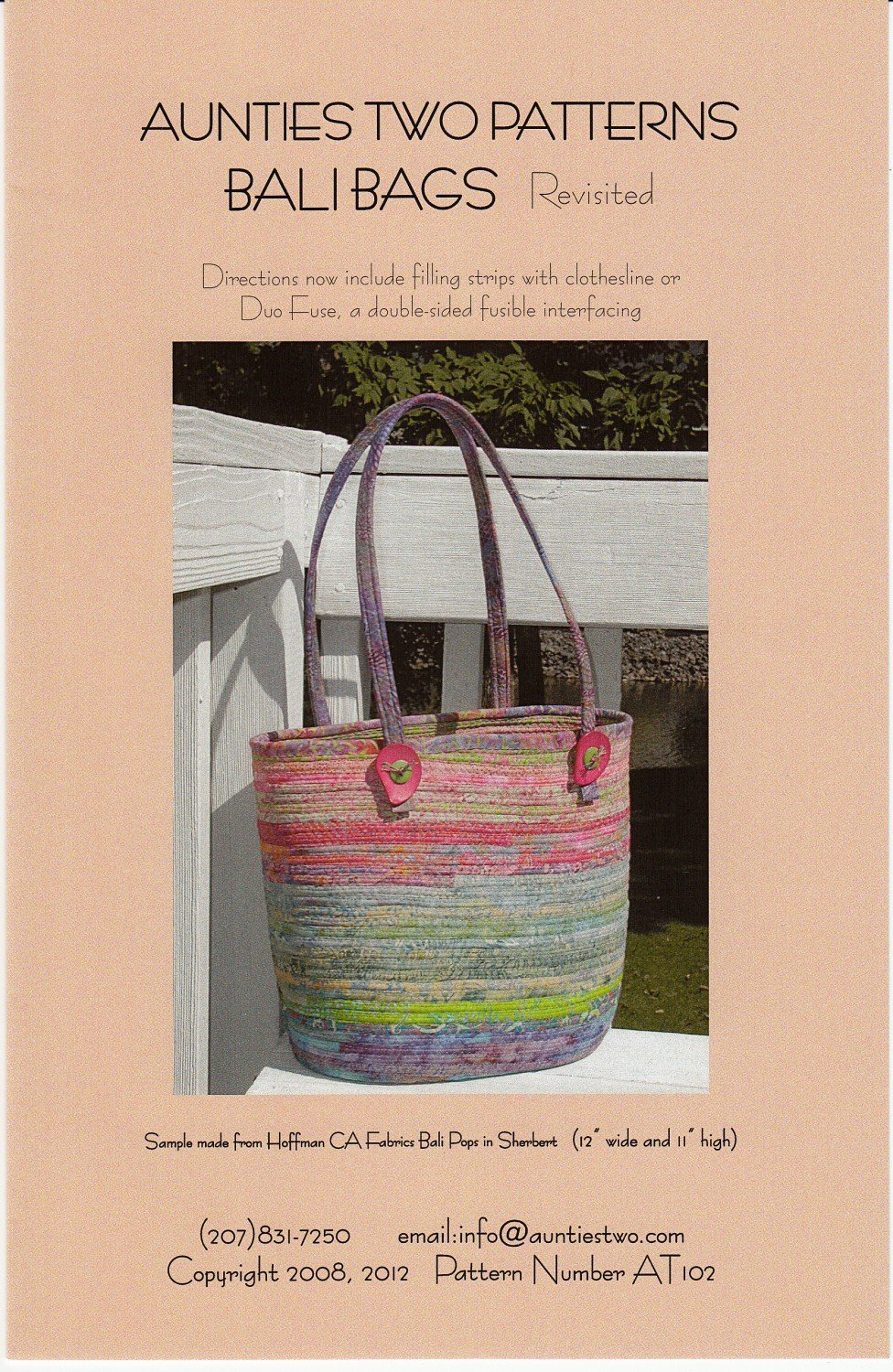 Bali Bags 2- Fabric Covered Clothesline Crafts