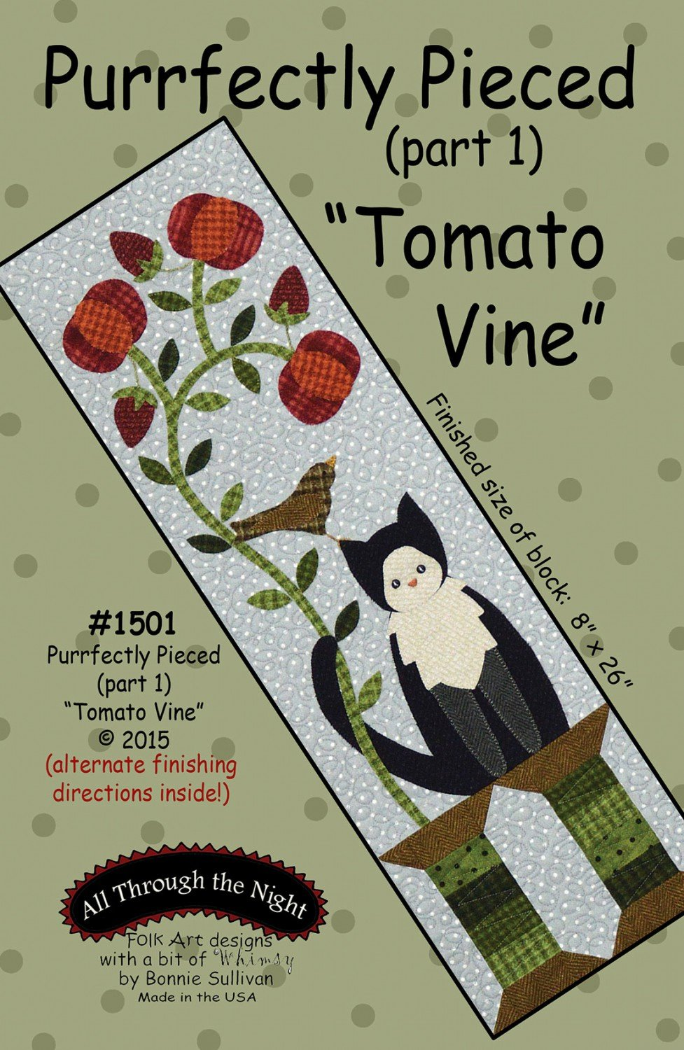 Purrfectly Pieced 1 Tomato Vine