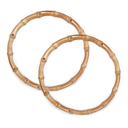 Bag Handle Round Bamboo 7in