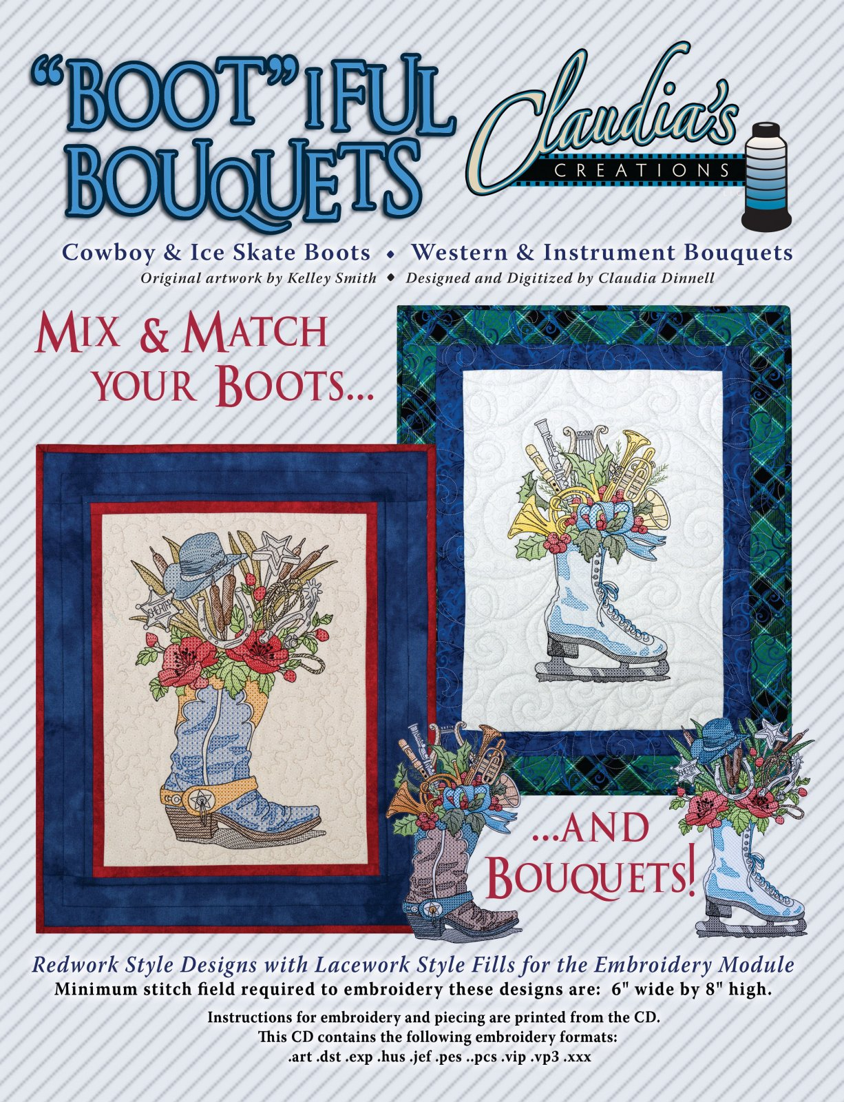 Bootiful Bouquets Cowboy / Ice Skate
