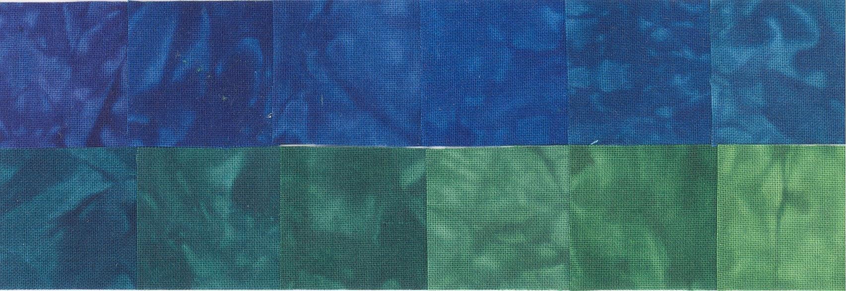 Blue Bayou Hand Dyed 12 Pack Fat Quarter Bundles