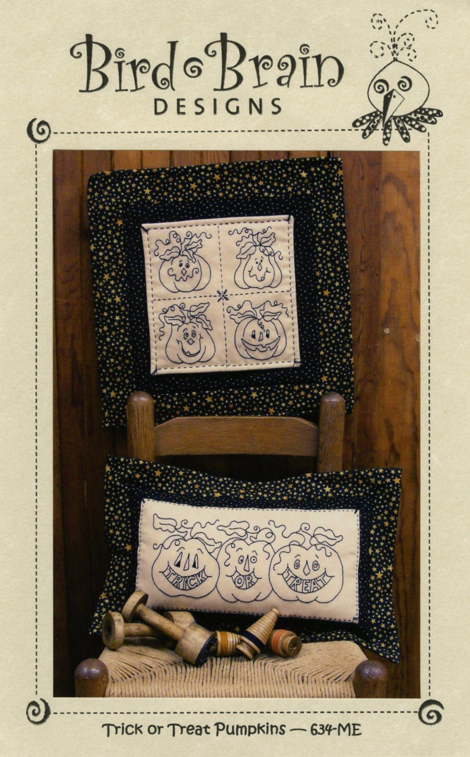 CD Trick or Treat Pumpkins Machine Embroidery