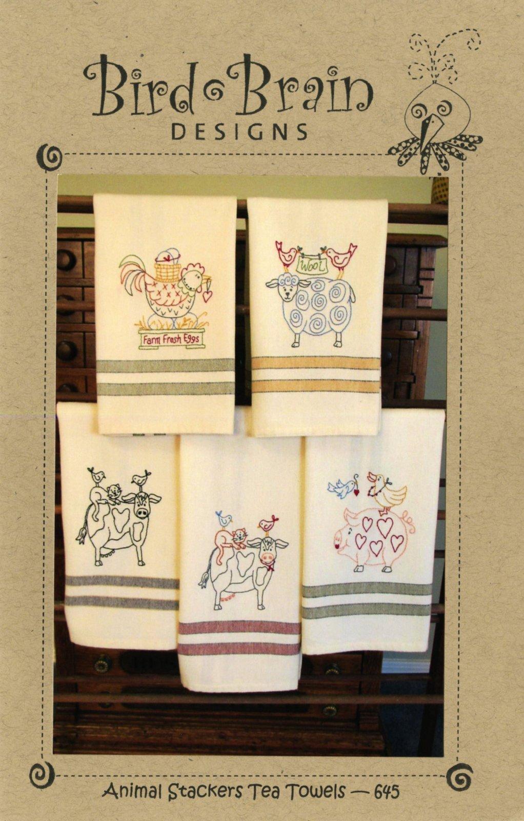 Animal Stackers Tea Towels