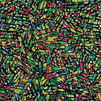 More is MORE - Mosaic - Green/Multi - 3316-44