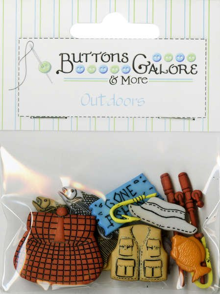 Fishing Buttons Button Bag