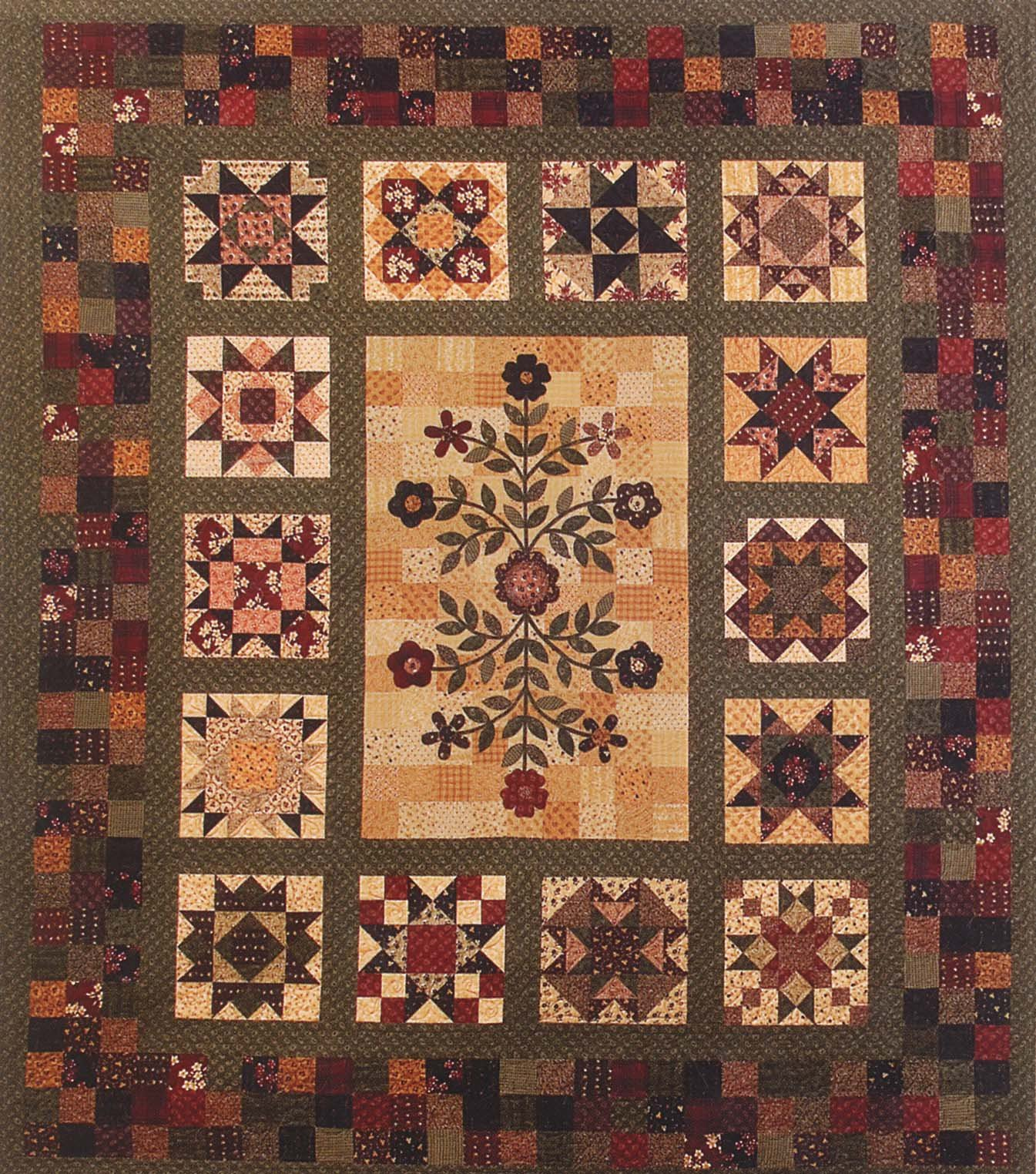 Stars Around the Garden - 9 Month Block of the Month in one pattern
