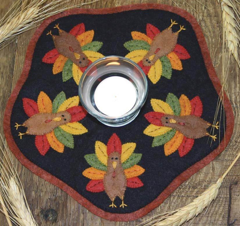 Kit Candle Mat Turkeys