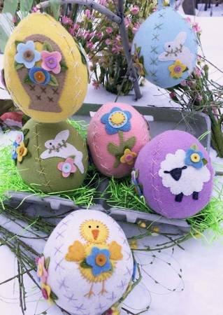 Sweet Stitched Easter Eggs Wool Felt & Floss Kit