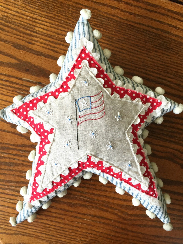 Little Star Pillow Fabric and Floss Kit