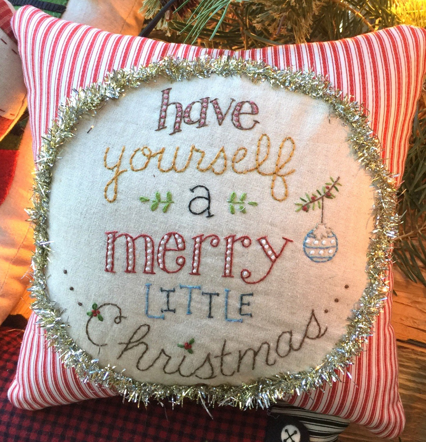 Have Yourself A Merry Christmas Little Pillow Kit