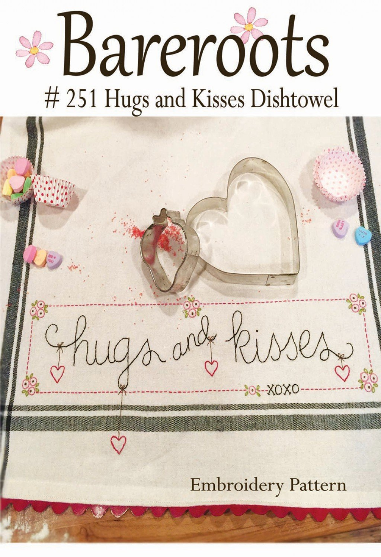 Hugs And Kisses Dishtowel Pattern