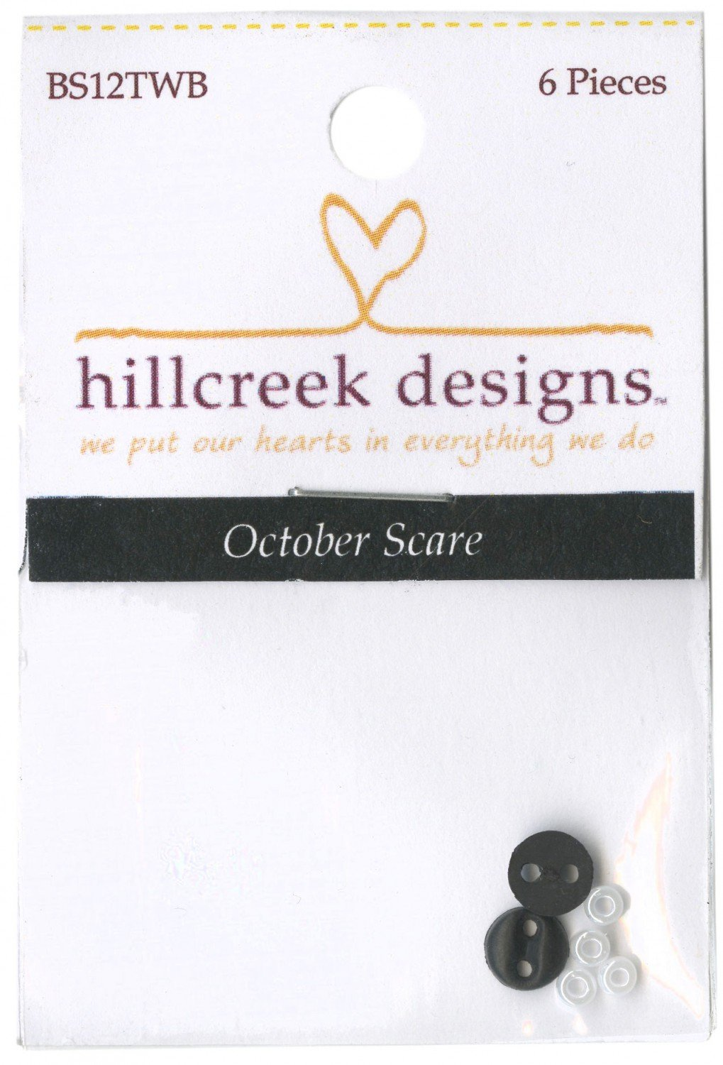 October Scare Embellishment Pack 6pc