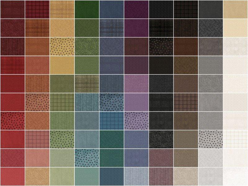Woolies Flannel 10 Squares by Bonnie Sullivan 100 pcs