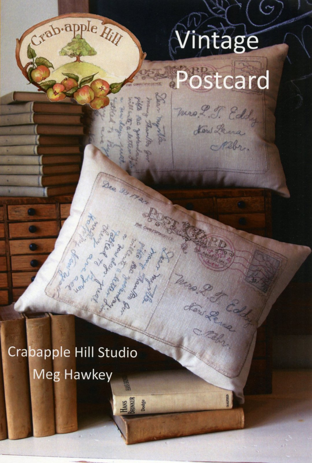 Vintage Postcard Pillow