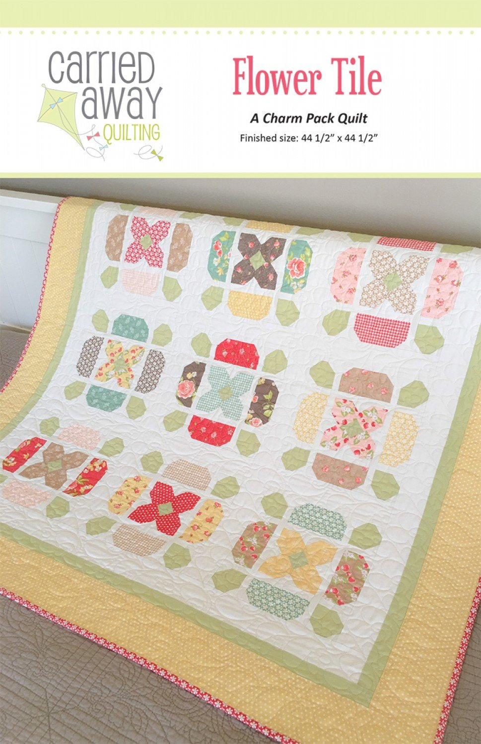 Flower Tile By Taunja Kelvington From Carried Away Quilting