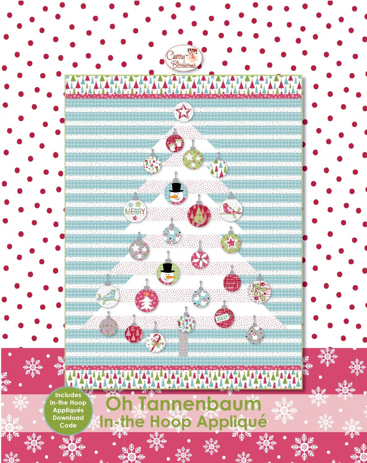 Oh Tannenbaum with In the Hoop Applique  ~ RELEASE DATE JAN 30/20 ~