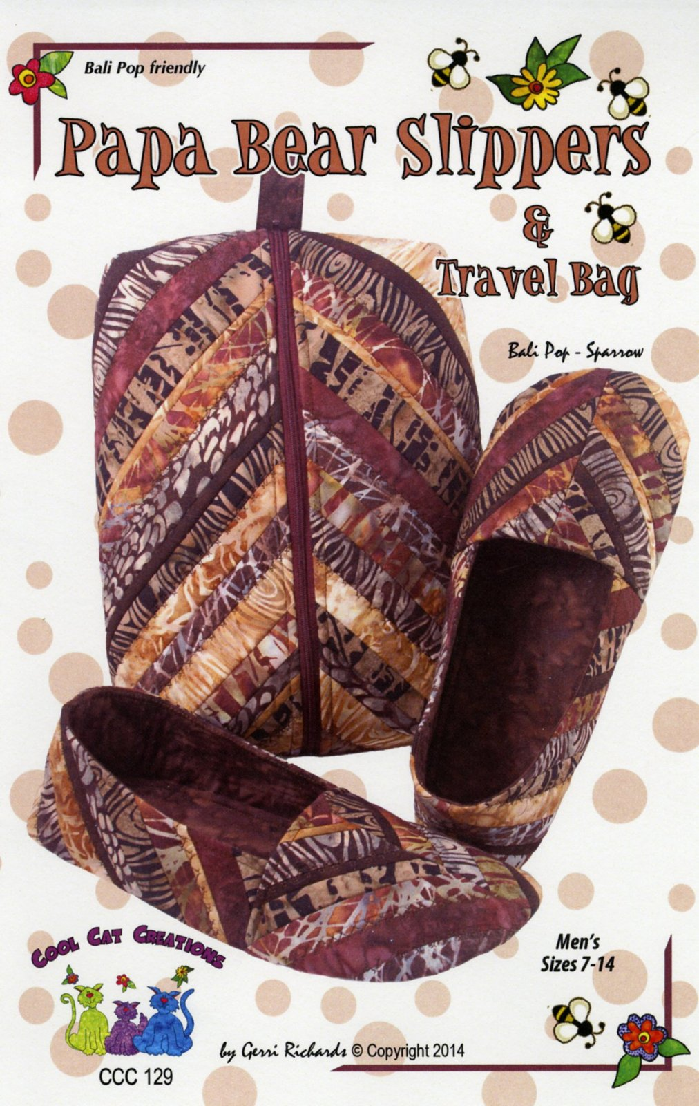Papa Bear Slippers & Travel Bag