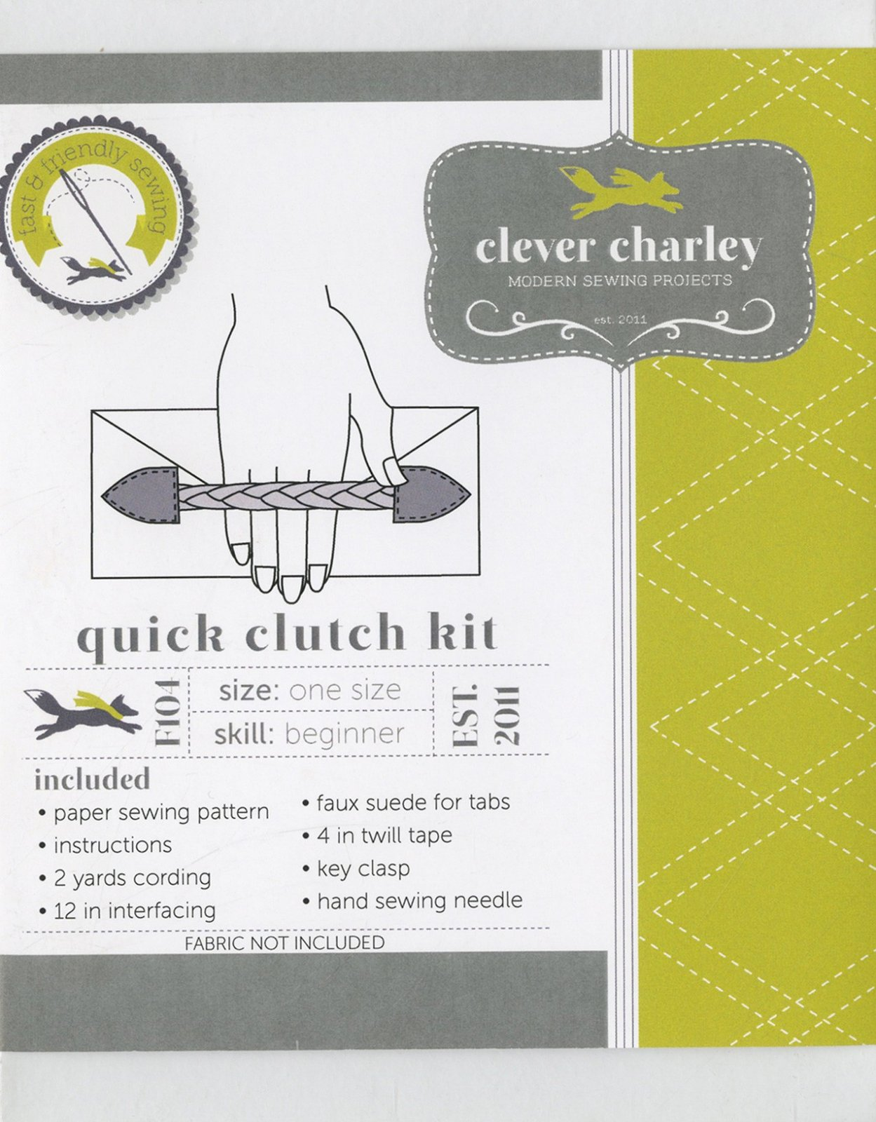 Sewing Kit Quick Clutch