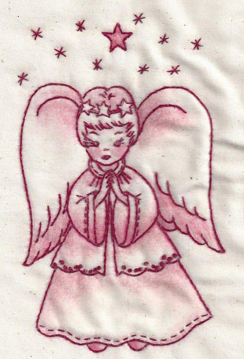 Believe Angel Redwork
