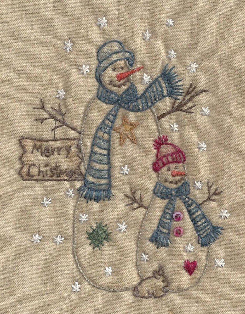 Christmas Snowman Tea Dye