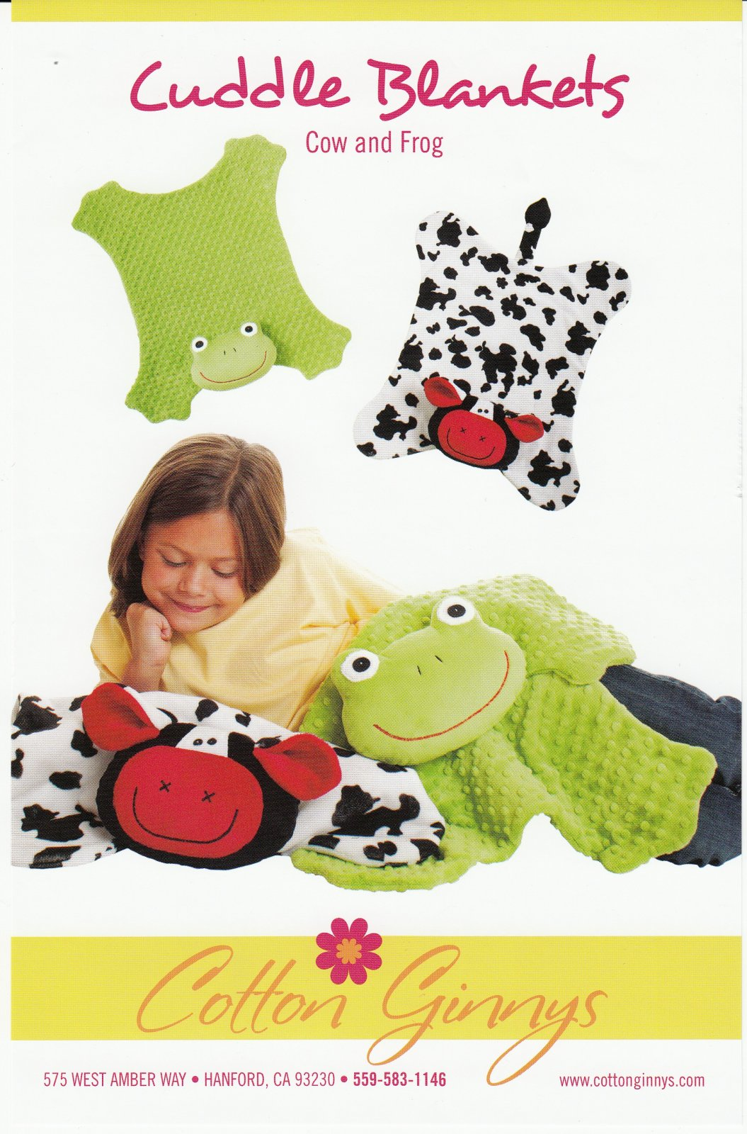 Cuddle Blankets - Cow & Frog