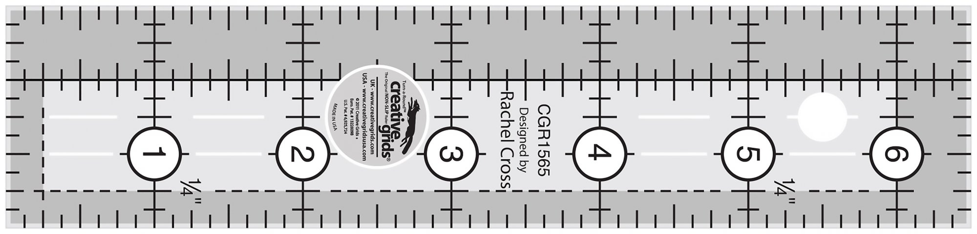 Creative Grids Quilting Ruler 1-1/2in x 6-1/2in
