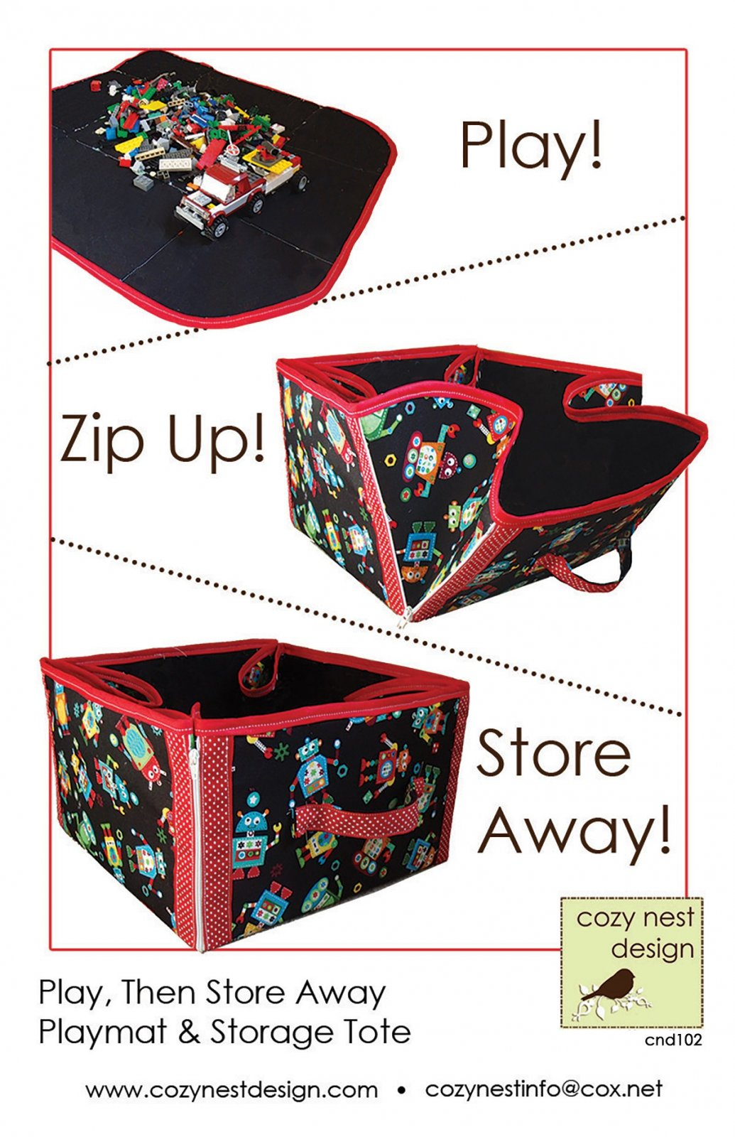 Play Then Store Away Playmat & Storage Tote