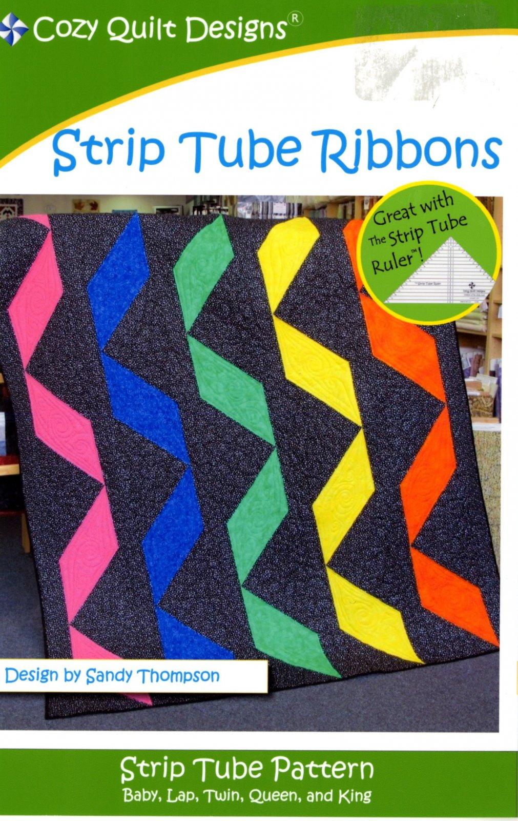 Fat Quarter - Strip Tube Ribbons