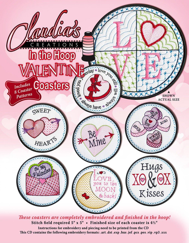 In The Hoop Valentine Coasters