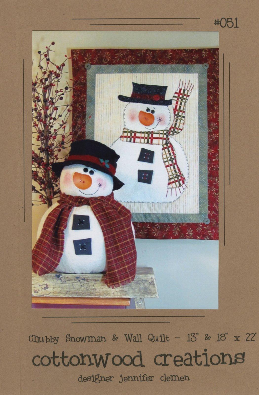Chubby Snowman & Wall Quilt