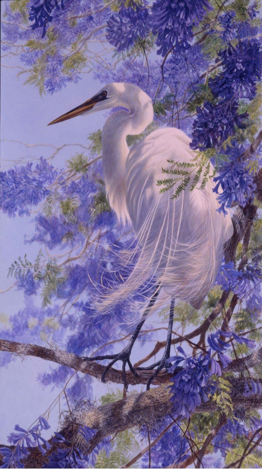 JACARANDA Panel - Egret