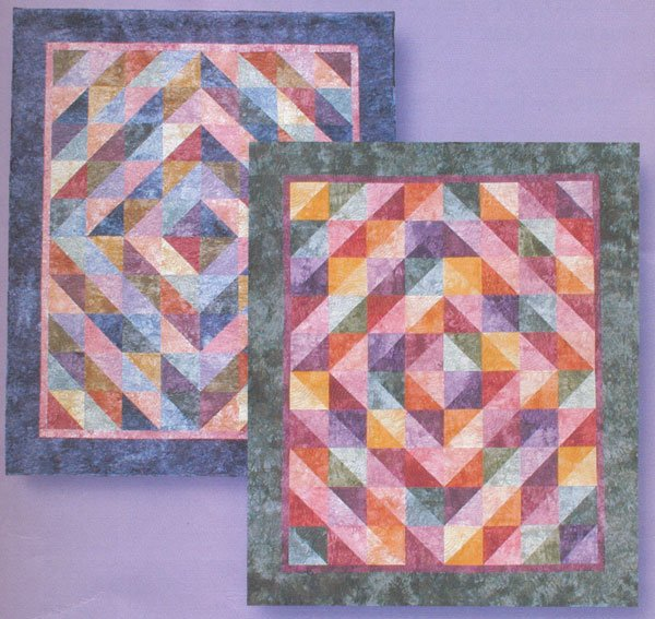 Double Size Fat Quarter Fun Quilt Kit (Green Colorway)