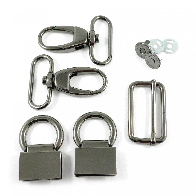 Double Flip Shoulder Bag Hardware Kit Gunmetal