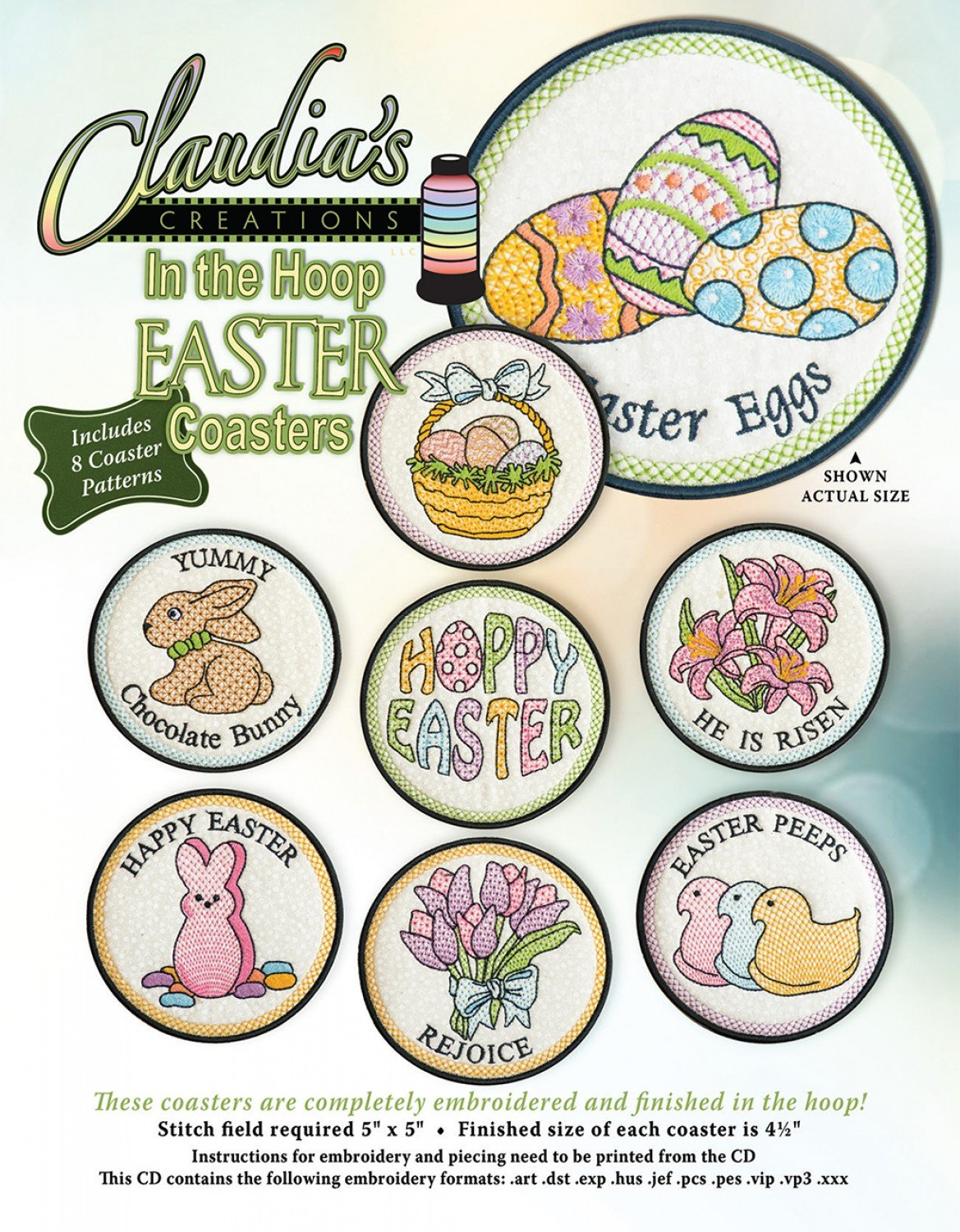 In The Hoop Easter Coasters