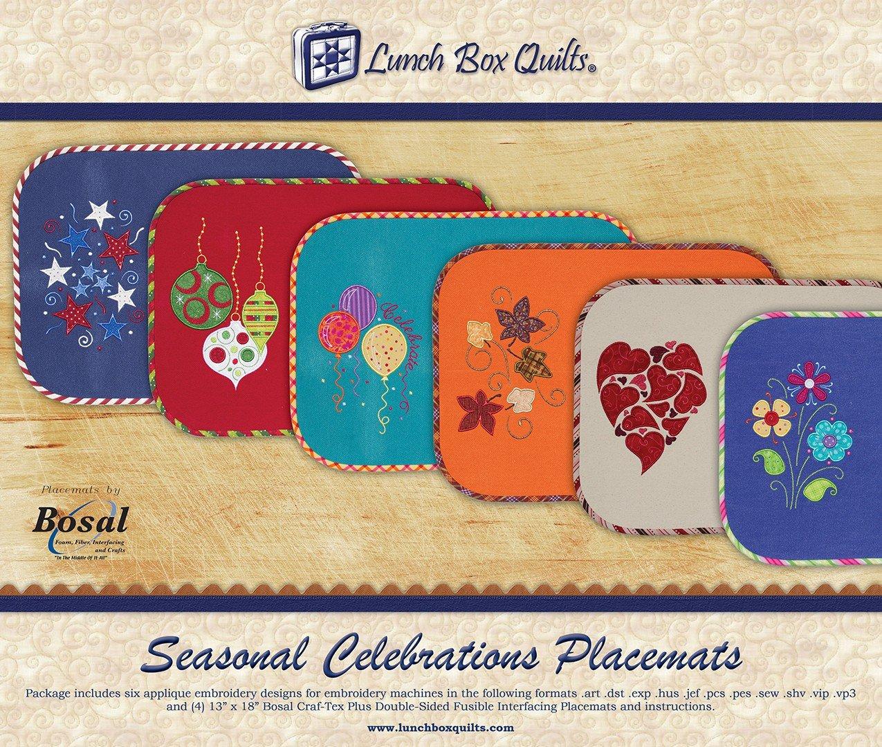 CD Seasonal Celebrations Placemats Machine Embroidery