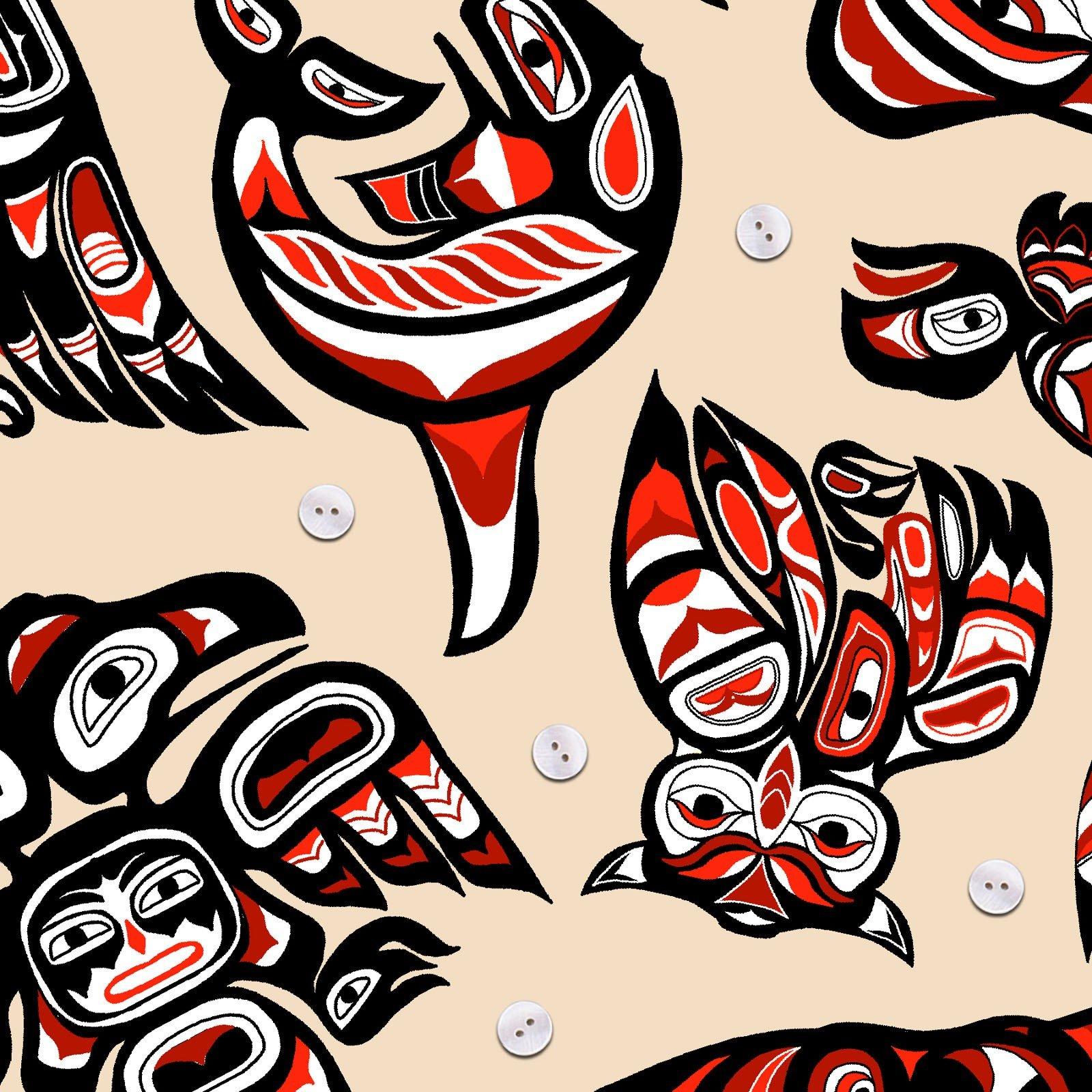 Native Spirit - Cream/Red