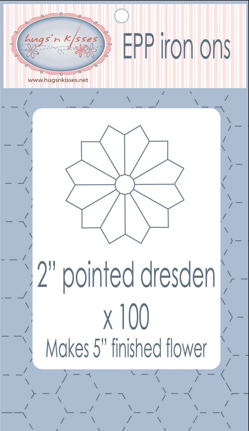 2in Pointed Dresden EPP Iron-on x 100