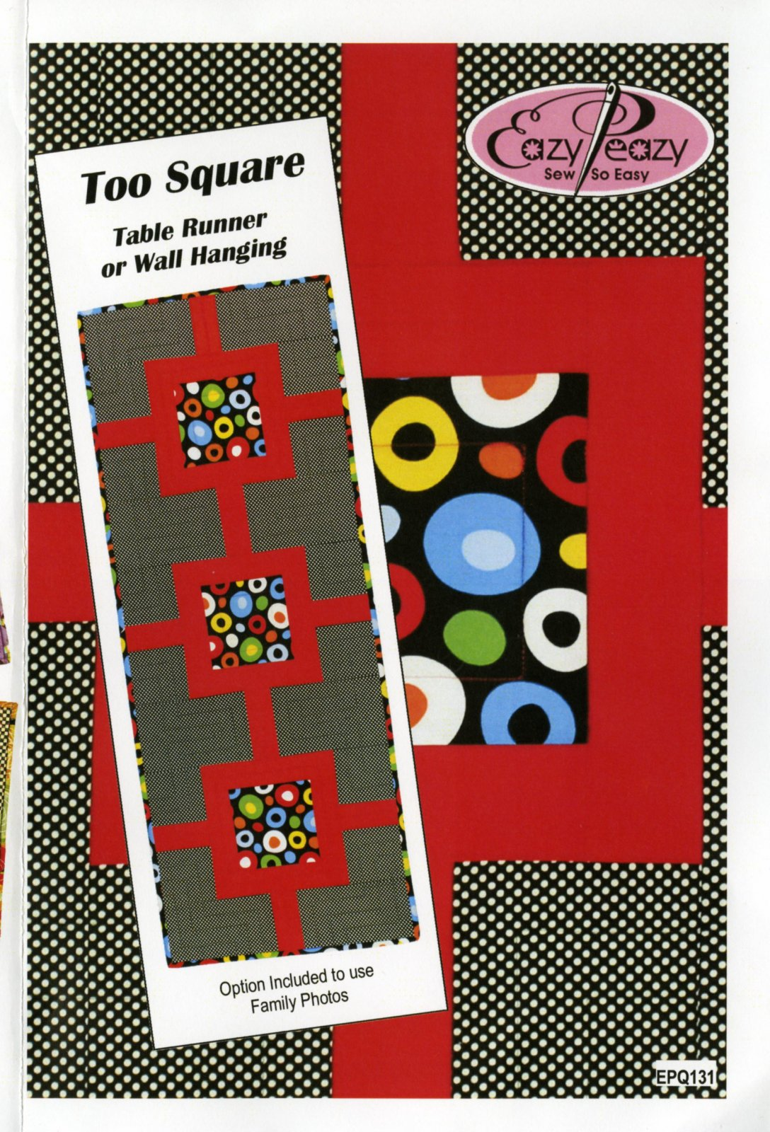 Too Square Table Runner or Wall Hanging